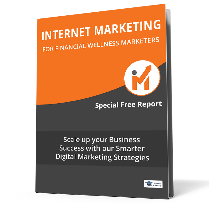training guide cover internet marketing for financial wellness marketers